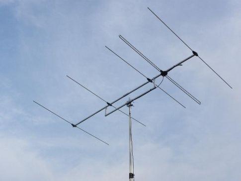 5 ele Yagi, 70 MHz, 8,28 dBd